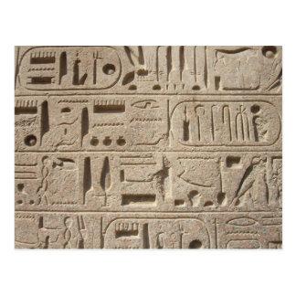 Hieroglyphs postcard