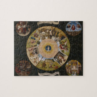 Hieronymus Bosch- 7 Deadly Sins & 4 Last Things Jigsaw Puzzle