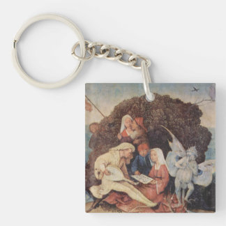 Hieronymus Bosch painting art Single-Sided Square Acrylic Keychain