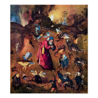 Hieronymus Bosch-Temptation of St. Anthony Poster