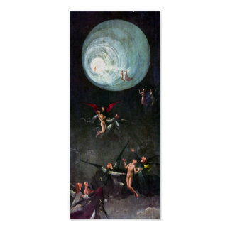 Hieronymus Bosch-The flight to heaven Poster