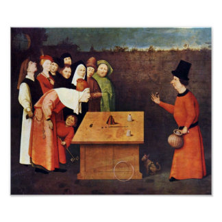 Hieronymus Bosch-The magician Poster
