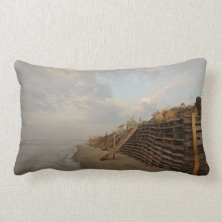 Higgins Beach High Tide Shipwreck Road Lumbar Pillow