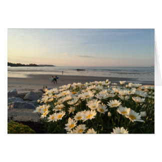 Higgins Beach Surfers and Daisies Card