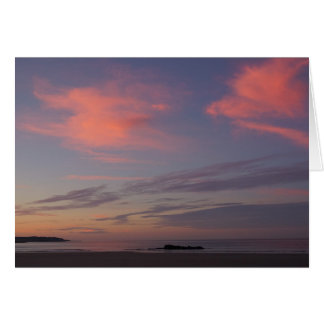 Higgins Beach Two Pink Cloud Sunrise Card
