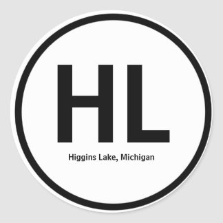Higgins Lake Initials Sticker