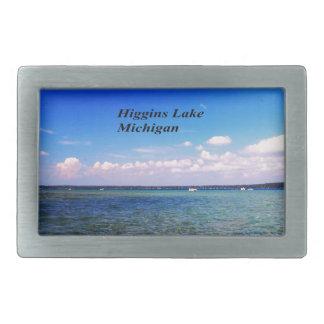Higgins Lake Michigan Belt Buckles