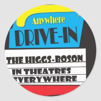 Higgs-Boson, the movie Round Sticker