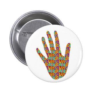 HIGH5 HighFive HIfi dots n circles Graphic Art Soc 2 Inch Round Button
