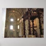 "High altar of St Peter""s Basilica, Vatican, Rome Poster"