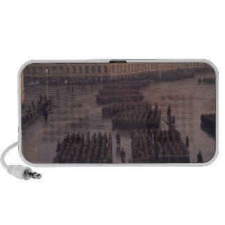 High angle view of a military parade, Winter Laptop Speaker