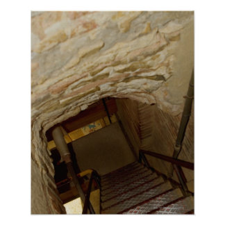 High angle view of a staircase, La Rognosa, San Poster
