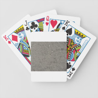 High angle view of brown ground bicycle playing cards