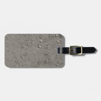 High angle view of brown ground luggage tag