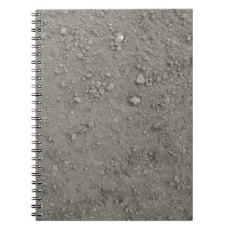 High angle view of brown ground notebook