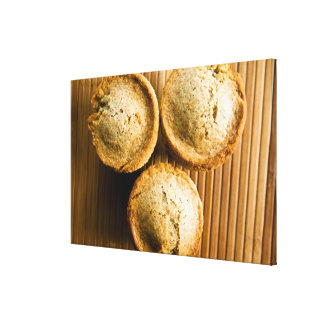 High angle view of muffins canvas prints