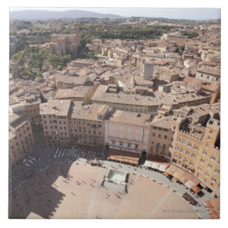 High Angle View of Townscape, Siena, Italy Ceramic Tiles