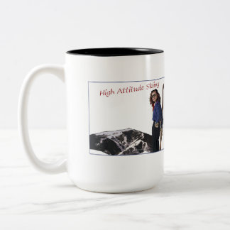 High Attitude Skiing Two-Tone Coffee Mug