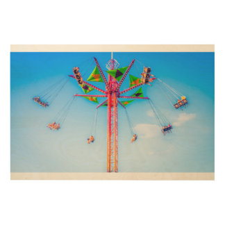 High Carnival Ride In The Sky Print Wood Canvases