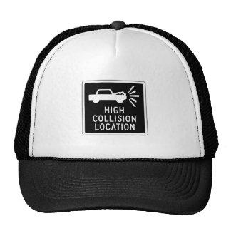 High Collision Location, Traffic Sign, Canada Trucker Hat