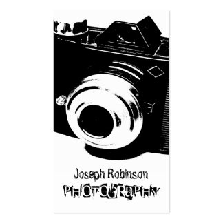 High Contrast Black White Camera Photography Business Card