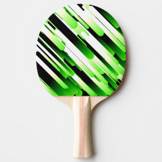 High contrast green ping pong paddle