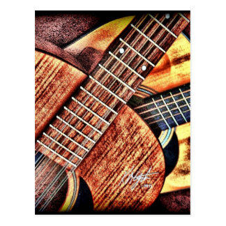High Contrast Guitars Postcard