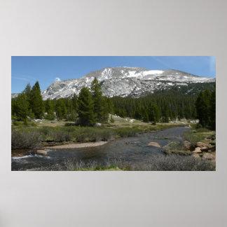 High Country Mountain Stream II Yosemite Park Poster
