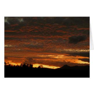 High Desert Sunset - Notecard Note Card