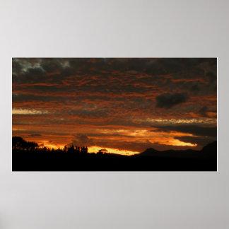 High Desert Sunset - Poster