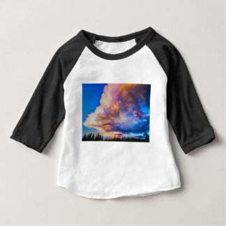 High Elevation Forest Sunset Sky Timed Stack Baby T-Shirt