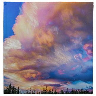 High Elevation Forest Sunset Sky Timed Stack Cloth Napkin