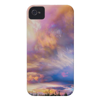 High Elevation Forest Sunset Sky Timed Stack iPhone 4 Cover