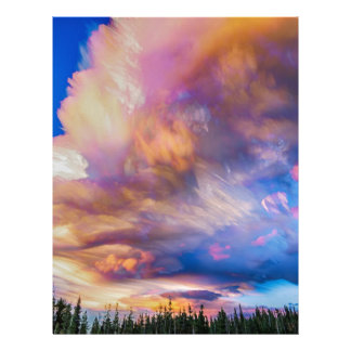 High Elevation Forest Sunset Sky Timed Stack Letterhead