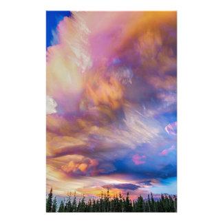 High Elevation Forest Sunset Sky Timed Stack Stationery