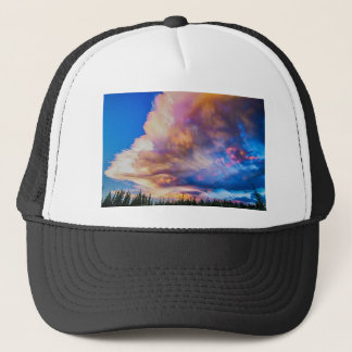 High Elevation Forest Sunset Sky Timed Stack Trucker Hat