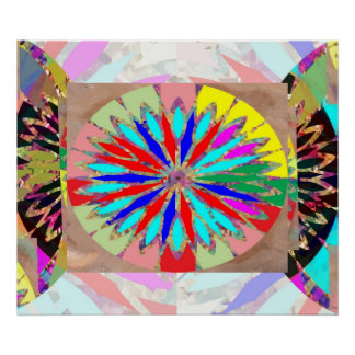 High Energy Diamond -  Flower Chakra Poster