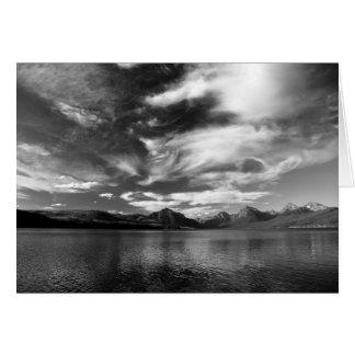 High Evening Clouds Over Lake McDonald Card