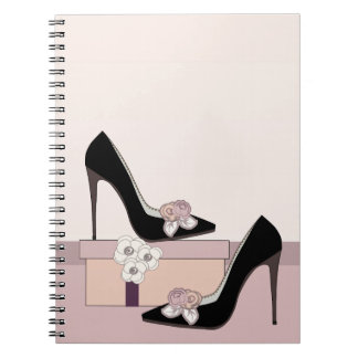 High fashion chic shoe with floral gift notebook