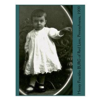 High Fashion Toddler of 1909 Postcard
