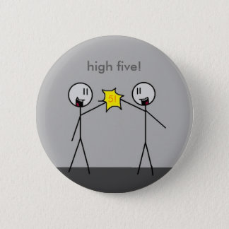 high five! 2 inch round button