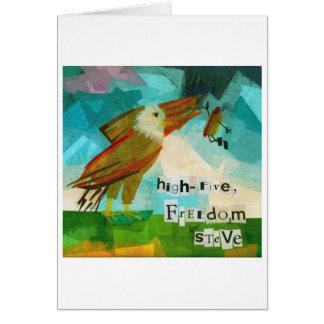 High Five Freedom Steve Card