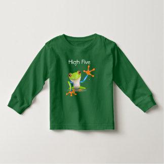 High Five Orange and Blue Funny Frog Shirt