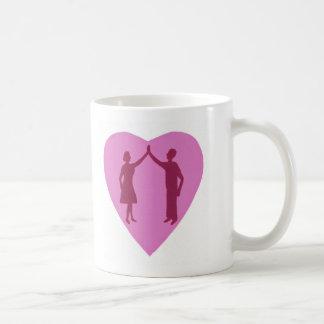 High Five with male and female, win win design Coffee Mug