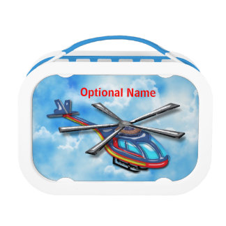 High Flying Helicopter in the Clouds Lunchboxes
