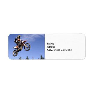 High flying motocross rider