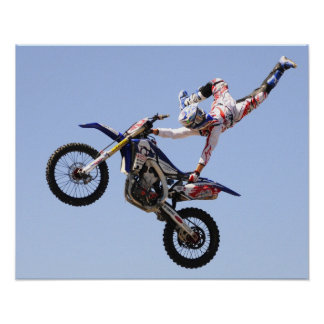 High flying motocross rider poster