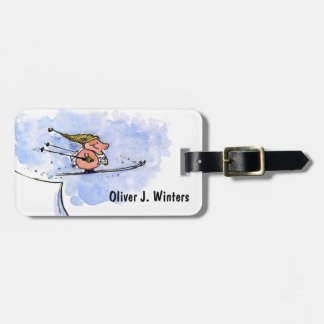 High Flying Pig - Ski Jumping Pig Athlete Luggage Tag