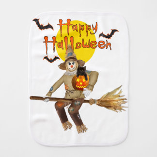 High Flying Scarecrow Baby Burp Cloths