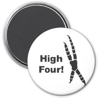 High Four Parrot Footprint (High Five) Magnet